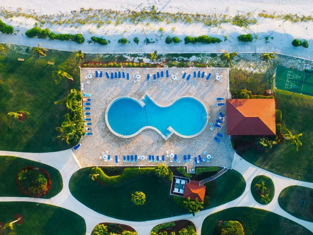 Vistes aeries de piscines
